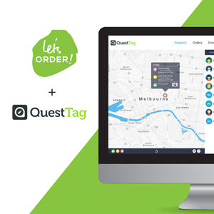 Let's Order online ordering partnering with QuestTag