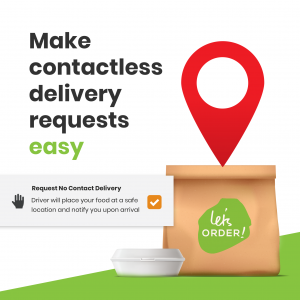 Contactless Online Ordering Delivery Requests